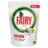 Nõudepesumasina tabletid FAIRY All in 1, Lemon, 22 tk