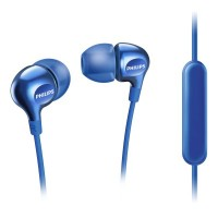 Philips Headphones with mic SHE3705BL 8.6mm drivers/closed-back In-ear
