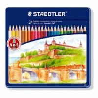 Värvipliiatsid STAEDTLER metallkarbis, 36 värvi