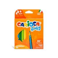 Värvipliiatsid CARIOCA Baby 2+, 10 tk