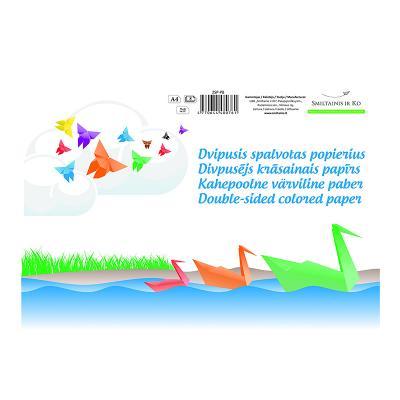 Värviline paber SMLT A4, 80g/m2, kahepoolne, 8 lehte