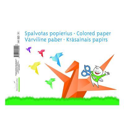 Värviline paber SMLT A4,ühepoolne, assortii, 8 lehte