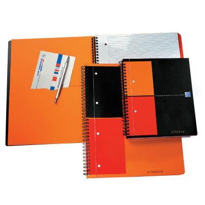 Spiraalköitega kaustik Oxford Activebook A4+, 80l, 5x5 ruut