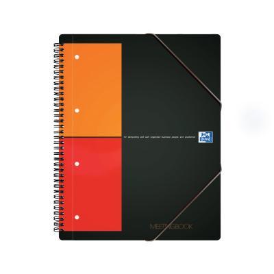 Spiraalköitega kaustik+kummik.mapp Oxford Meetingbook, A4+, ruut, 80 lehte