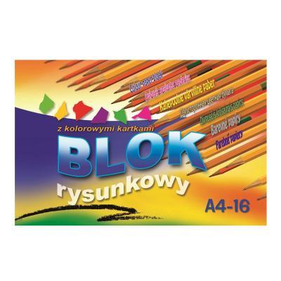 Värviline paber Kreska A4,kahepoolne, 16 lehte