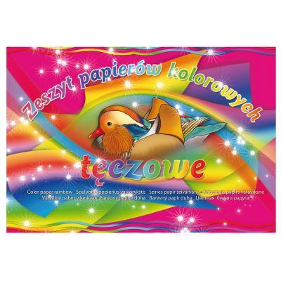 Värviline paber RAINBOW KRESKA A4, 8 värvi
