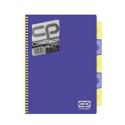 Spiraalköitega kaustik Patio Jumper Neon A5, 200 lehte, 3 vahelehte, ruuduline, sinine