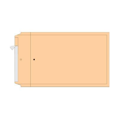 Turvaümbrik AirPro, H18, Nr.8, sisem. 270x360 mm, pruun