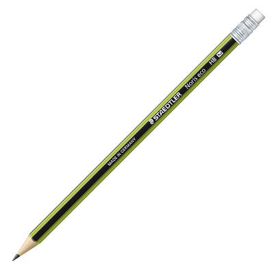 Harilik pliiats STAEDTLER NORIS ECO 182, HB, kustutuskummiga, roheline korpus