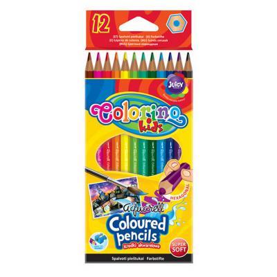 Akvarellvärvipliiatsid Colorino 12 värvi+ pintsel
