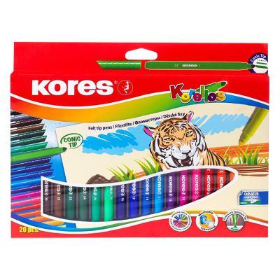 Viltpliiatsid Kores Korellos koonus, 20 värvi