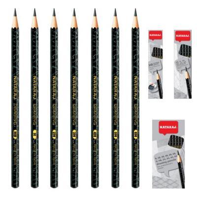 Harilik pliiats NATARAJ 4H, teritatud, 12 tk