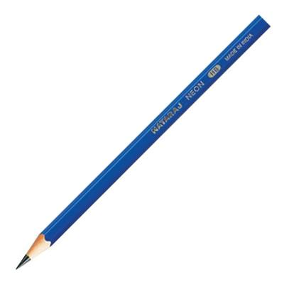 Harilik pliiats NATARAJ Neon Triangle HB, teritatud, assortii