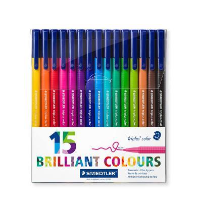 Viltpliiatsid STAEDTLER Briliant Triplus Colours, 15 värvi
