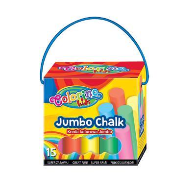 Värvikriidid COLORINO Jumbo, 15 tk