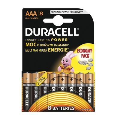 Patareid Duracell AAA, 8 tk