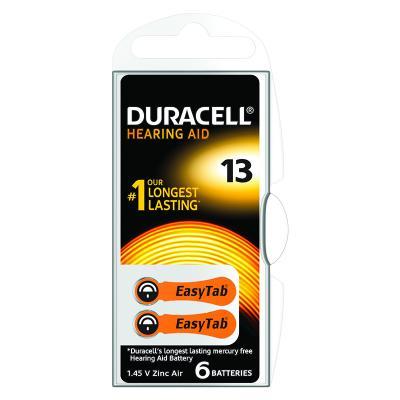 Patarei kuuldeaparaadile Duracell 13, 6 tk