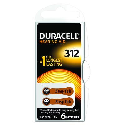 Patarei kuuldeaparaadile Duracell 312, 6 tk