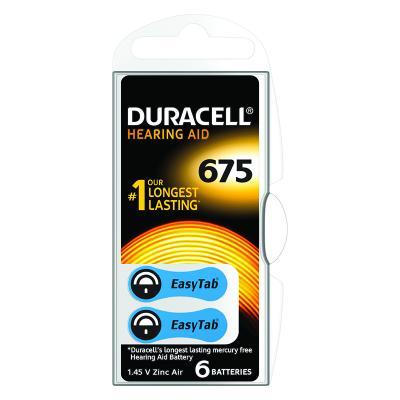 Patarei kuuldeaparaadile Duracell 675, 6tk
